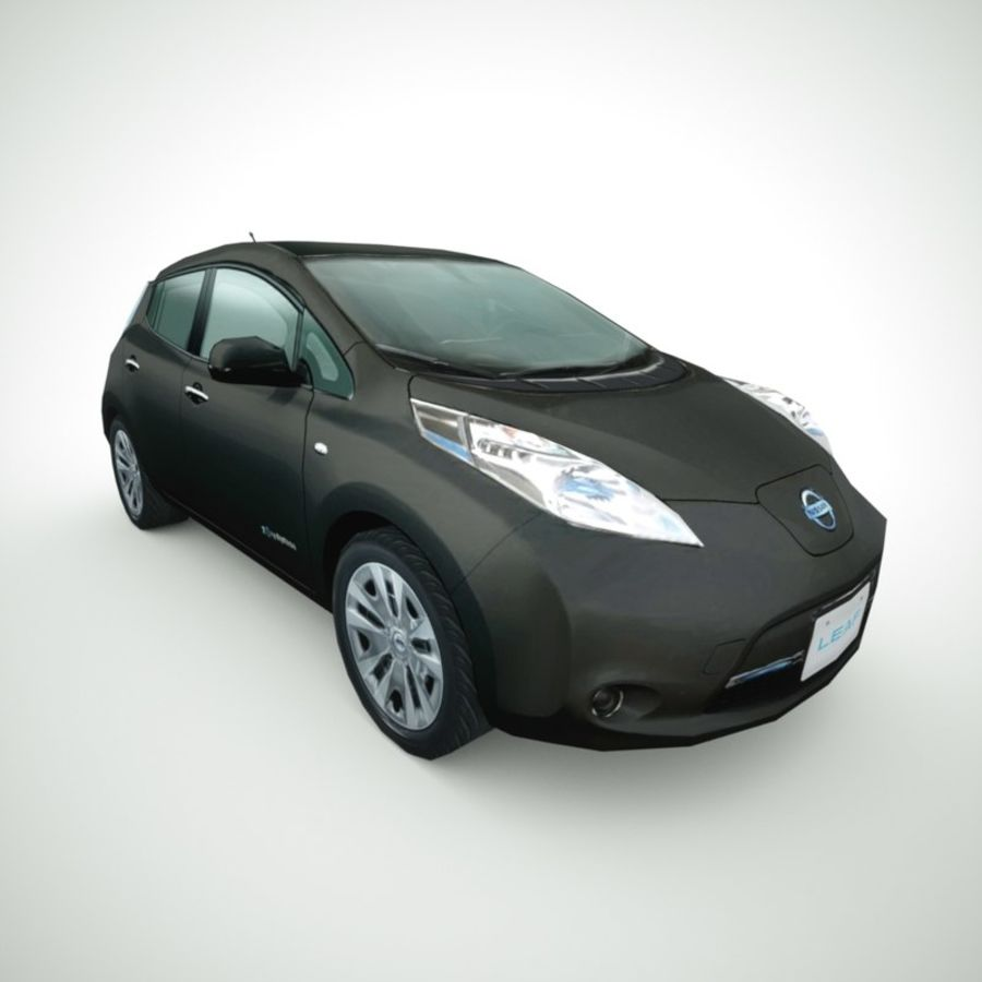 2013 Nissan  LEAF collection royalty-free 3d model - Preview no. 7