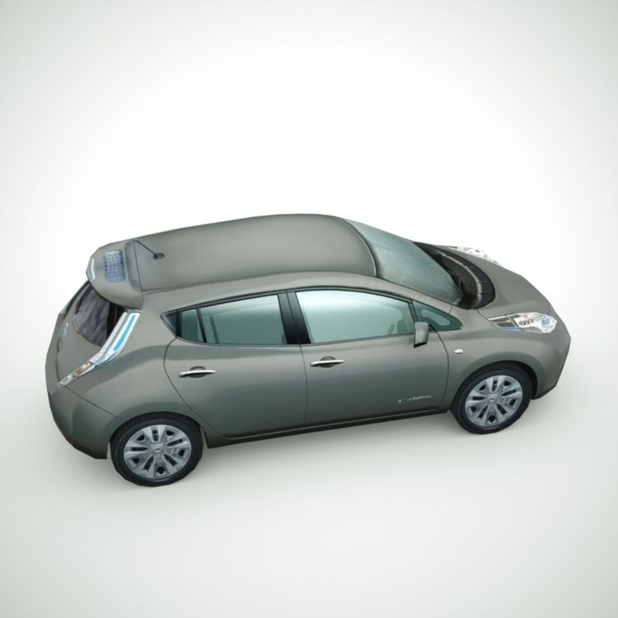 2013 Nissan  LEAF collection royalty-free 3d model - Preview no. 4