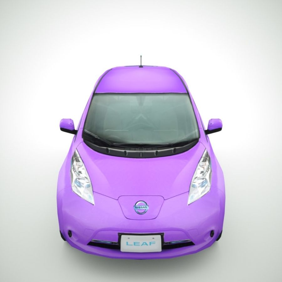2013 Nissan  LEAF collection royalty-free 3d model - Preview no. 6