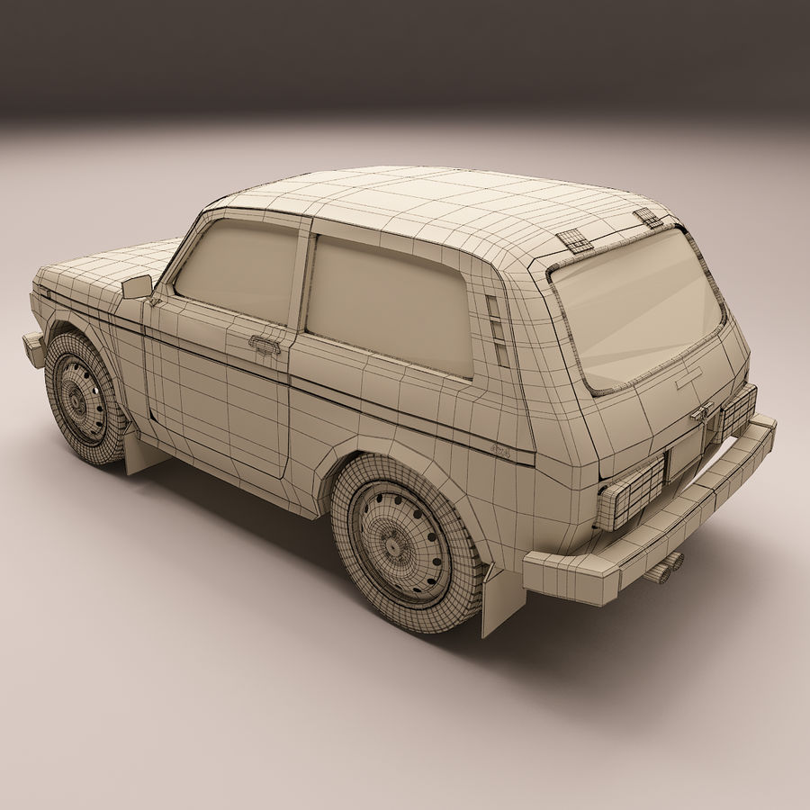 Lada Niva royalty-free 3d model - Preview no. 9