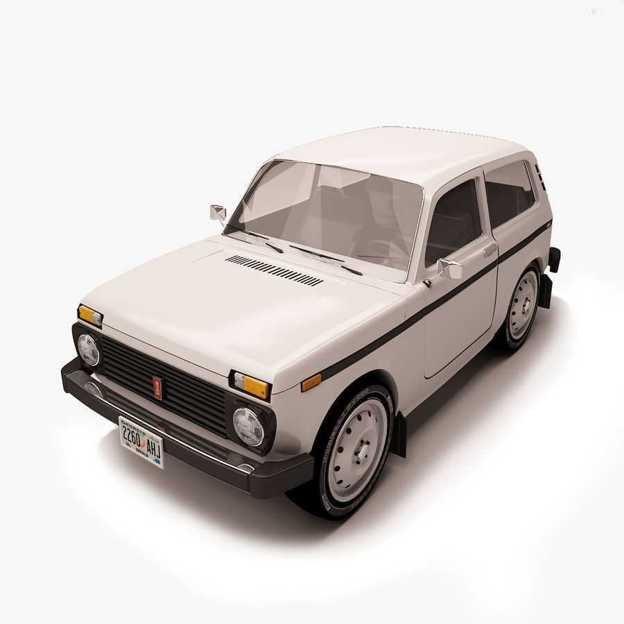 Lada Niva royalty-free 3d model - Preview no. 1