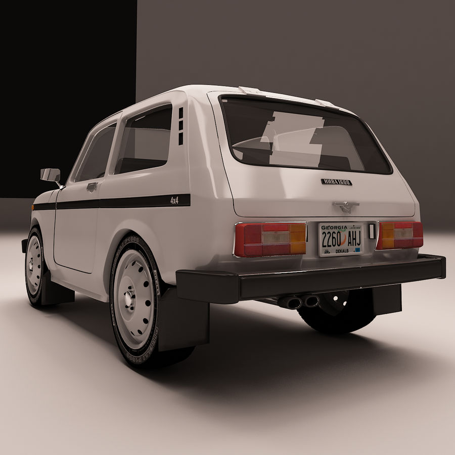 Lada Niva royalty-free 3d model - Preview no. 6