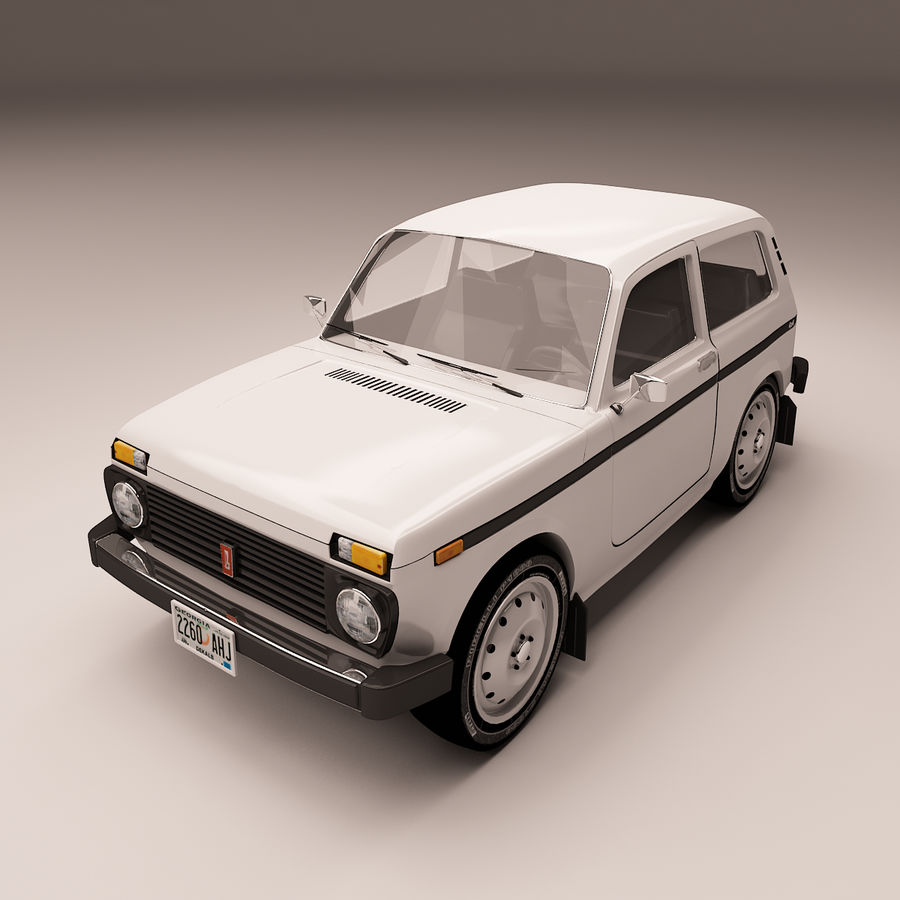 Lada Niva royalty-free 3d model - Preview no. 2