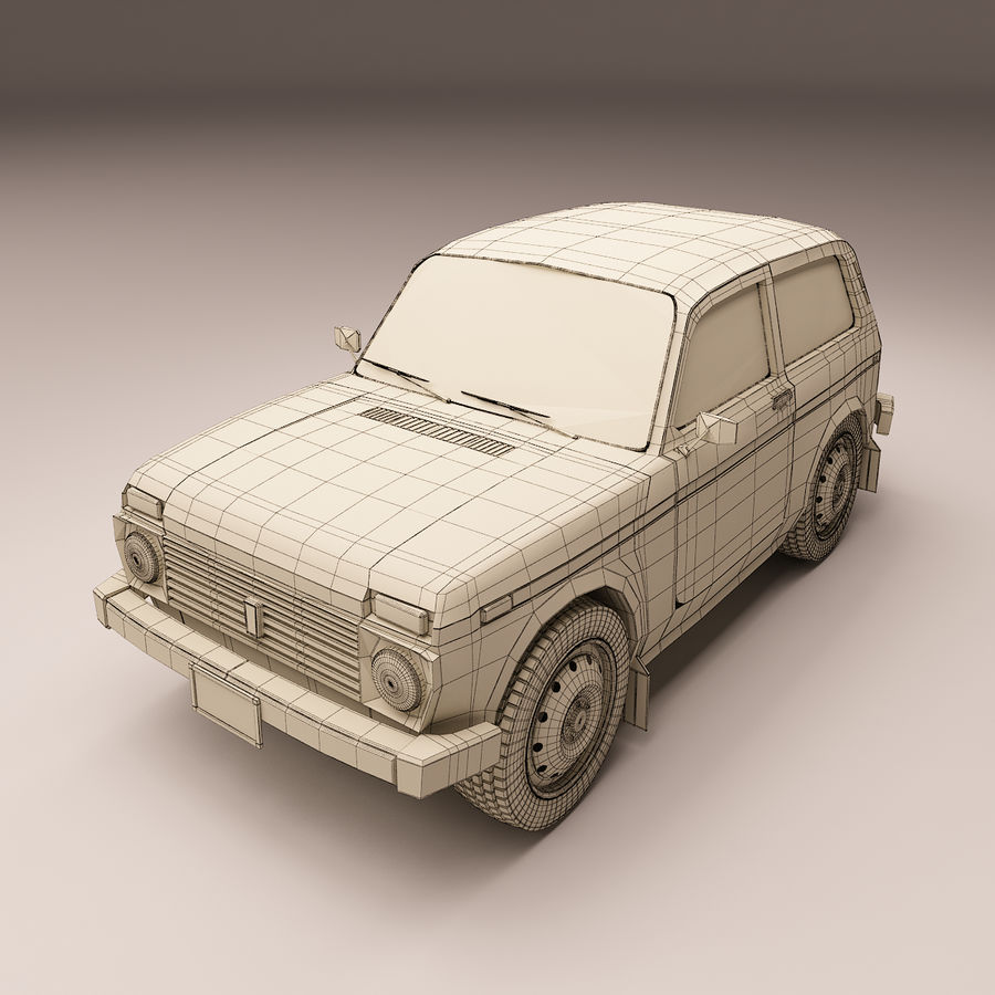 Lada Niva royalty-free 3d model - Preview no. 8