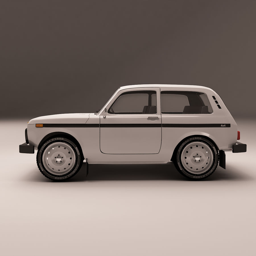 Lada Niva royalty-free 3d model - Preview no. 4