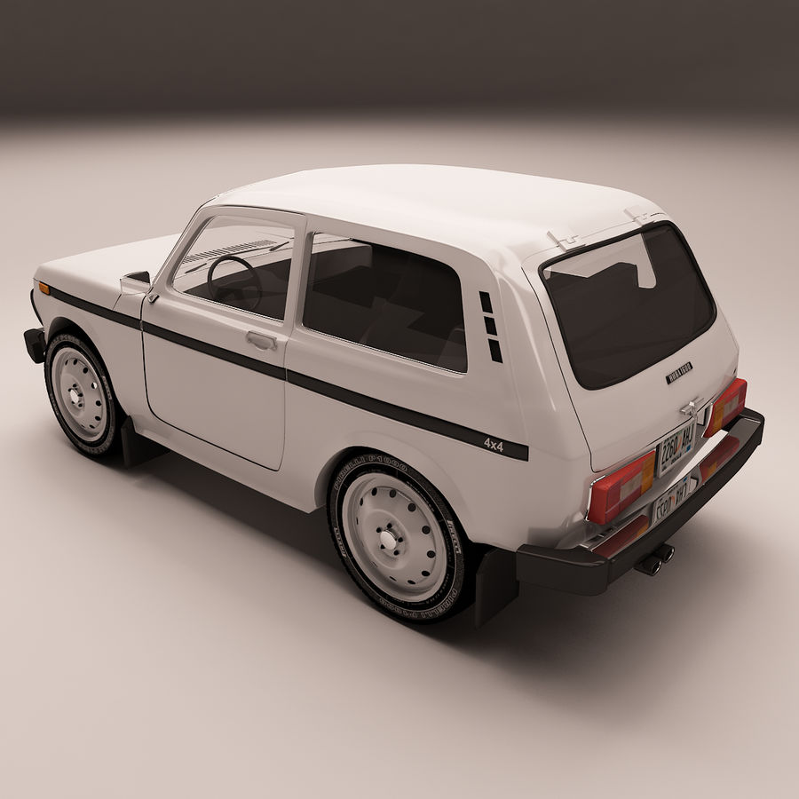 Lada Niva royalty-free 3d model - Preview no. 3