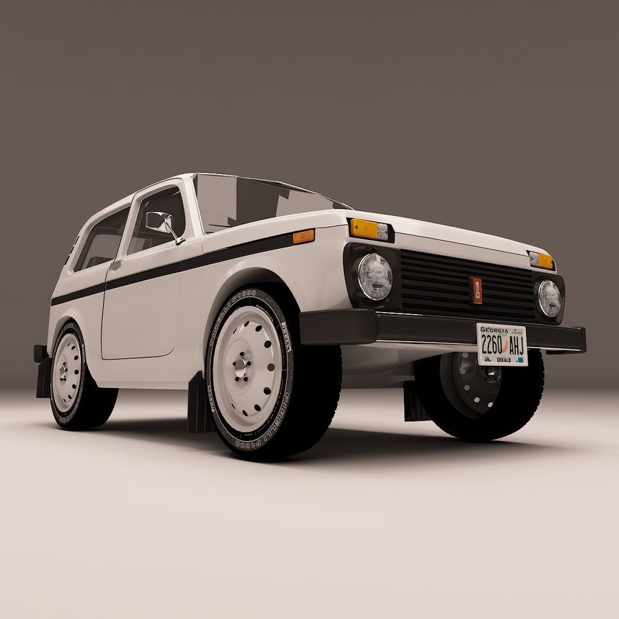 Lada Niva royalty-free 3d model - Preview no. 7