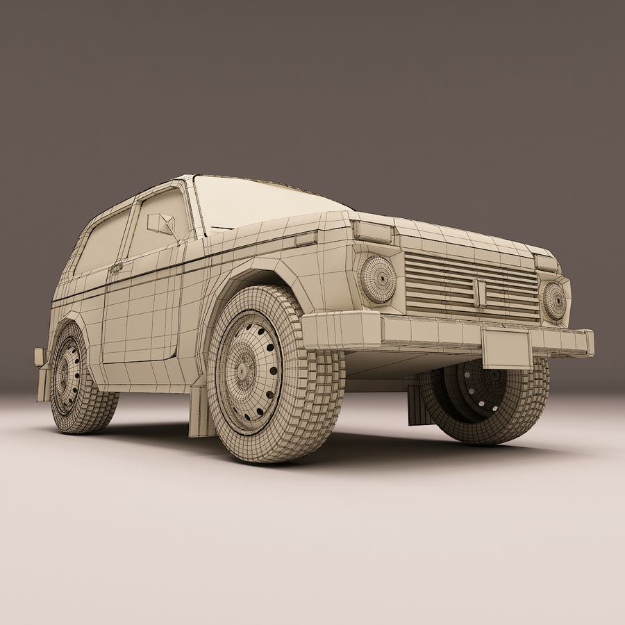 Lada Niva royalty-free 3d model - Preview no. 10
