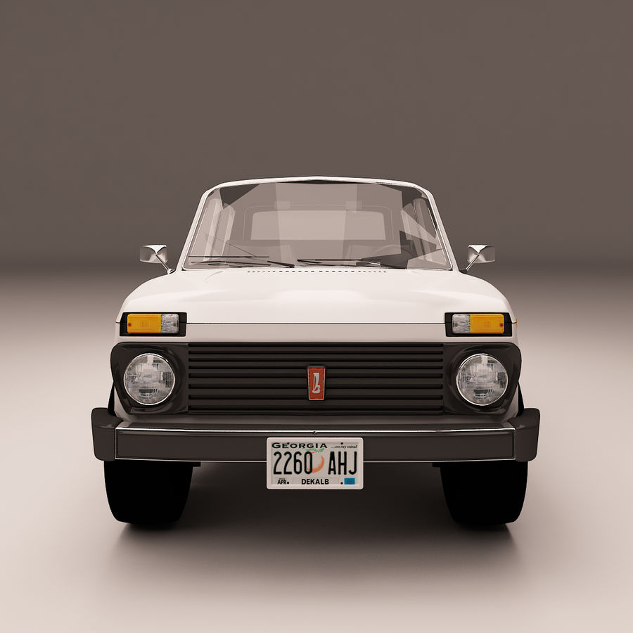 Lada Niva royalty-free 3d model - Preview no. 5