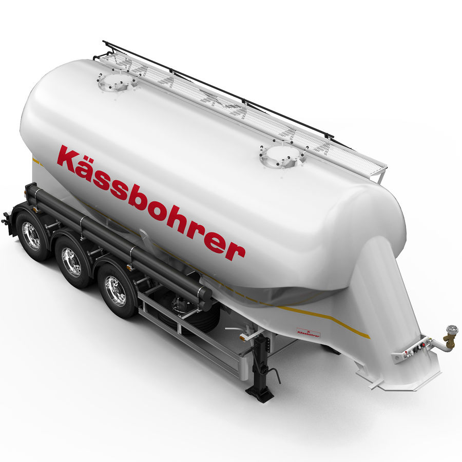 Przyczepa cementowa (KASSBOHRER) royalty-free 3d model - Preview no. 9