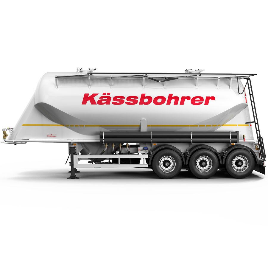 Przyczepa cementowa (KASSBOHRER) royalty-free 3d model - Preview no. 1