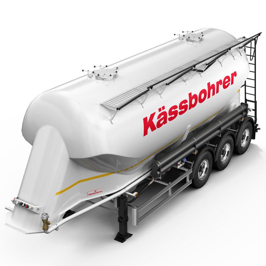 Przyczepa cementowa (KASSBOHRER) royalty-free 3d model - Preview no. 8