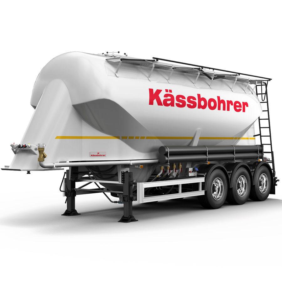 Przyczepa cementowa (KASSBOHRER) royalty-free 3d model - Preview no. 2