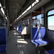 Метро - Метро поезд 1 Врай 3d model