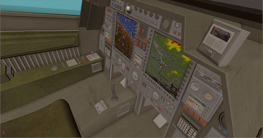 Cockpit royalty-free 3d model - Preview no. 3