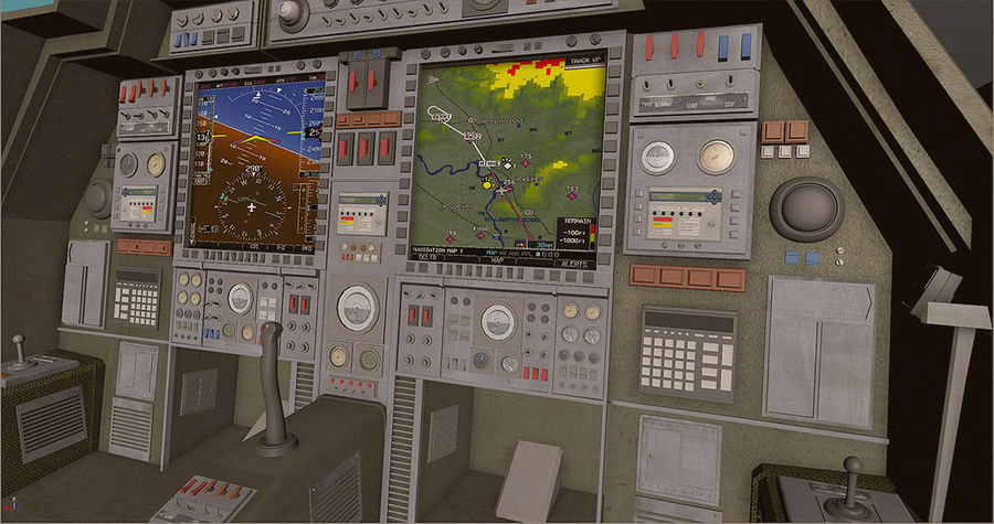 Cockpit royalty-free 3d model - Preview no. 2