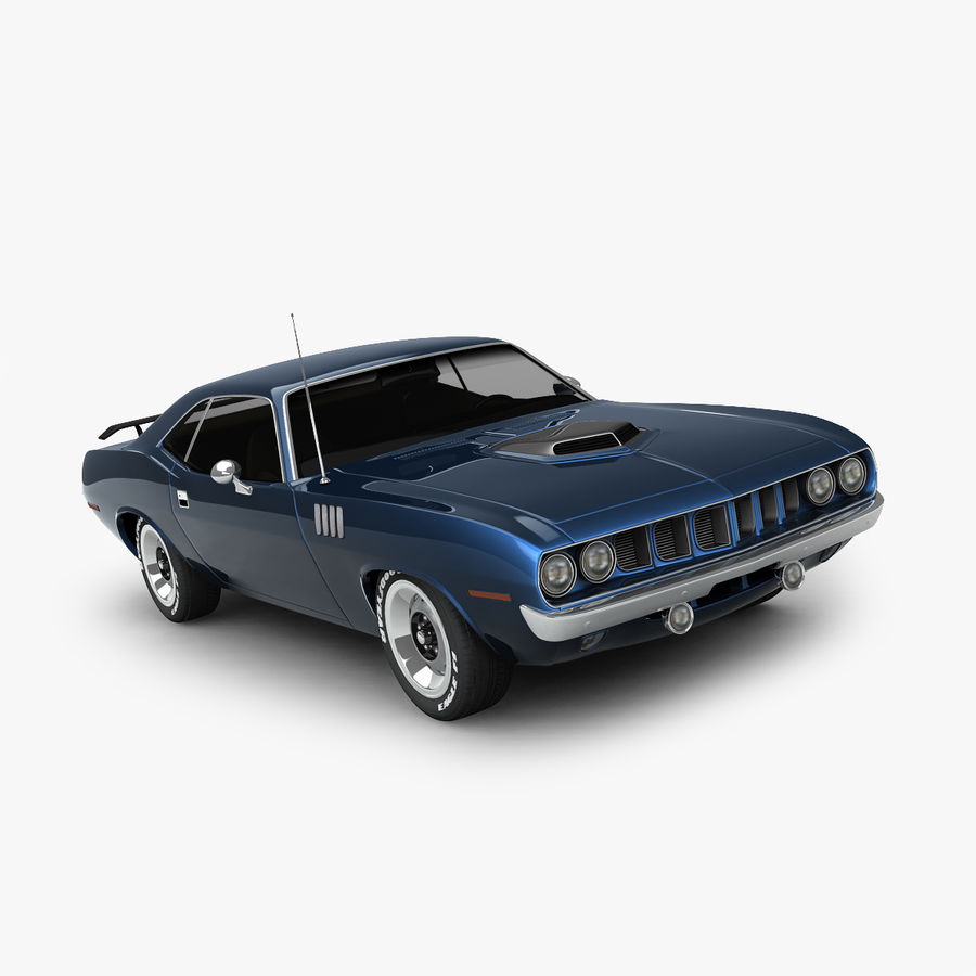 Plymouth Barracuda 71 royalty-free 3d model - Preview no. 1