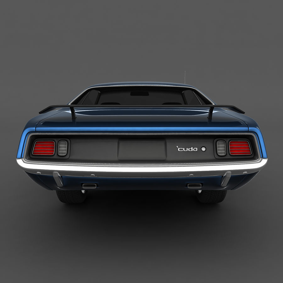 Plymouth Barracuda 71 royalty-free 3d model - Preview no. 7