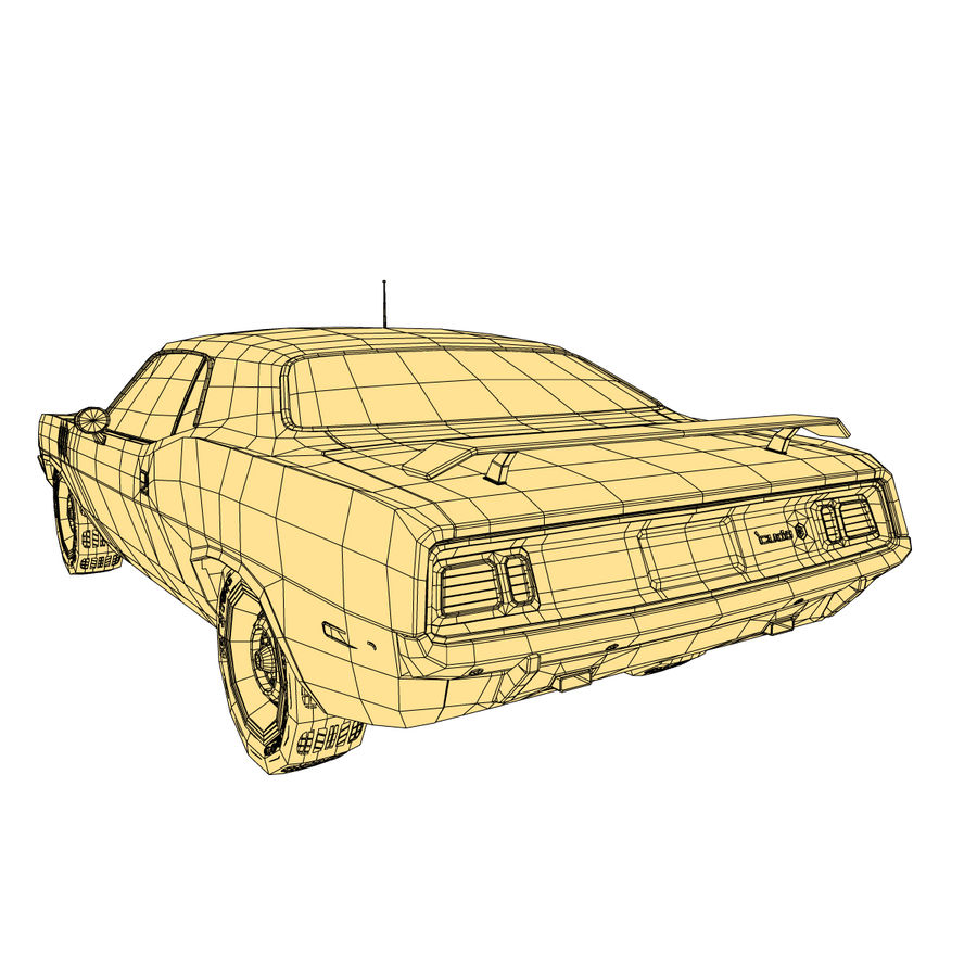 Plymouth Barracuda 71 royalty-free 3d model - Preview no. 11