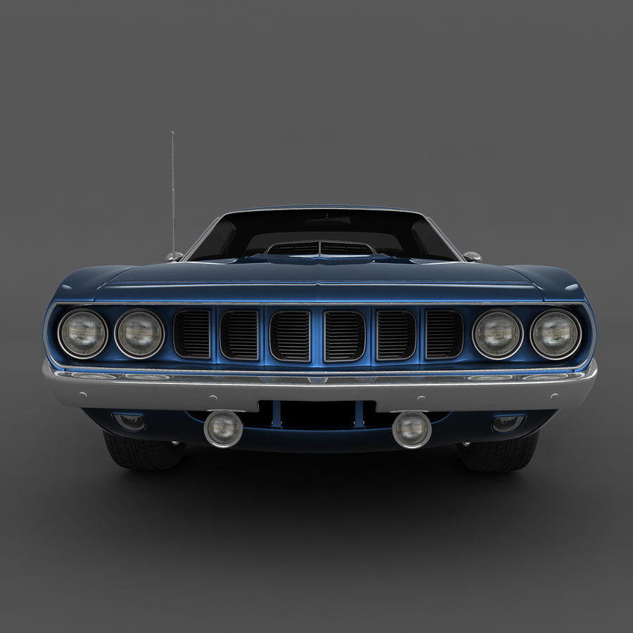Plymouth Barracuda 71 royalty-free 3d model - Preview no. 6