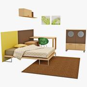 子供の寝室の家具3 3d model
