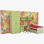 Meble do sypialni dla dzieci 4 3d model