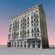 Europees gebouw 041 Parijs 3d model