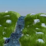 Animación de fuente de agua modelo 3d