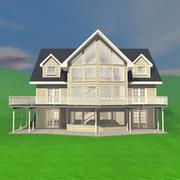 Dom z pokojami wewnętrznymi nr 1 3d model