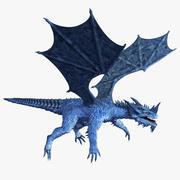 Niebieski smok 3d model