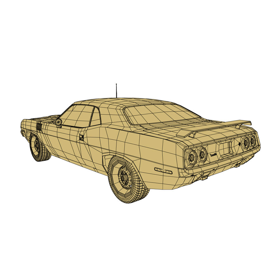 Plymouth Barracuda 1972 royalty-free 3d model - Preview no. 9