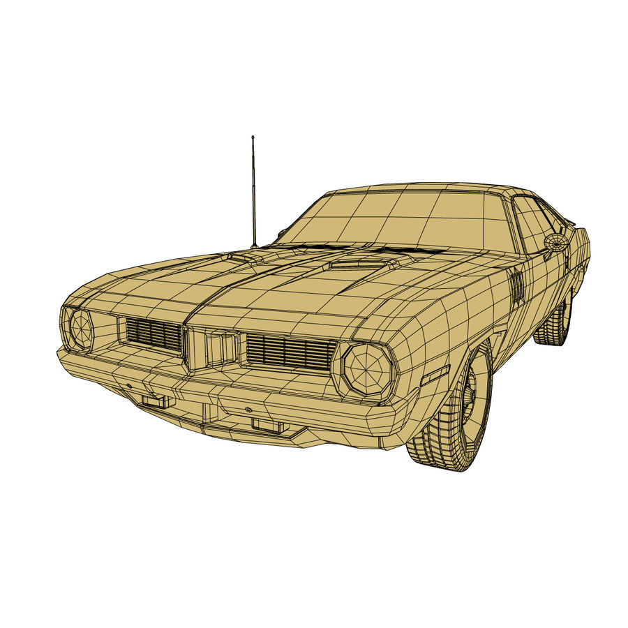 Plymouth Barracuda 1972 royalty-free 3d model - Preview no. 8