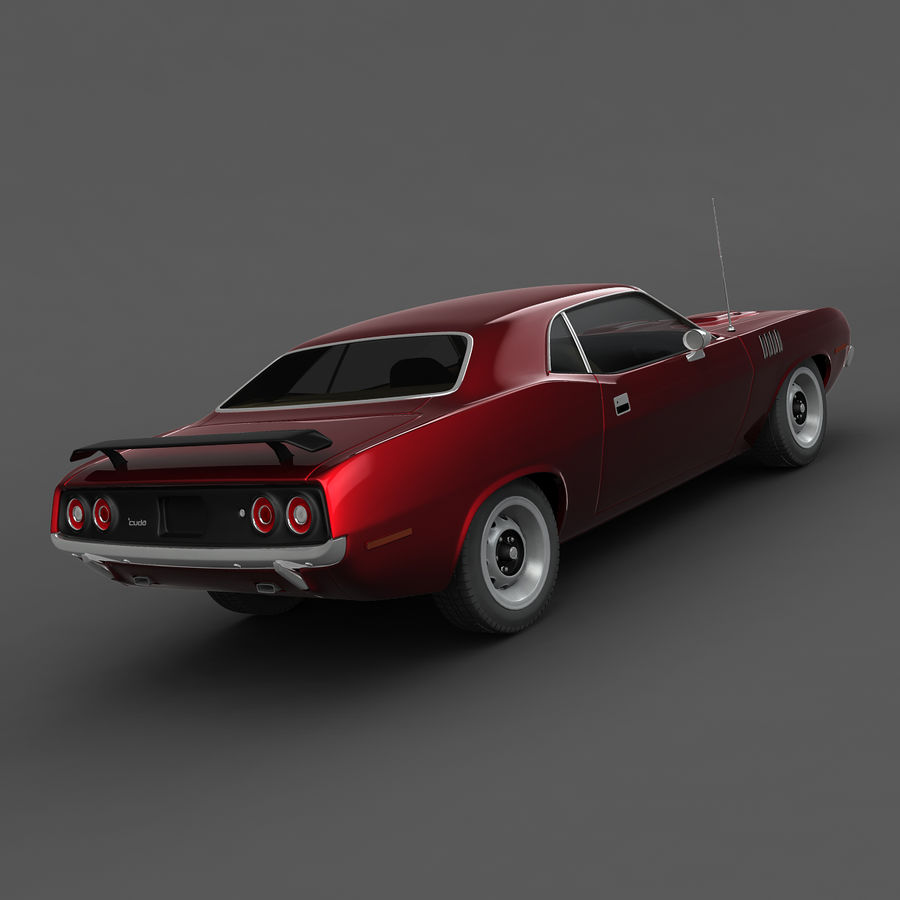 Плимут Барракуда 1972 royalty-free 3d model - Preview no. 5