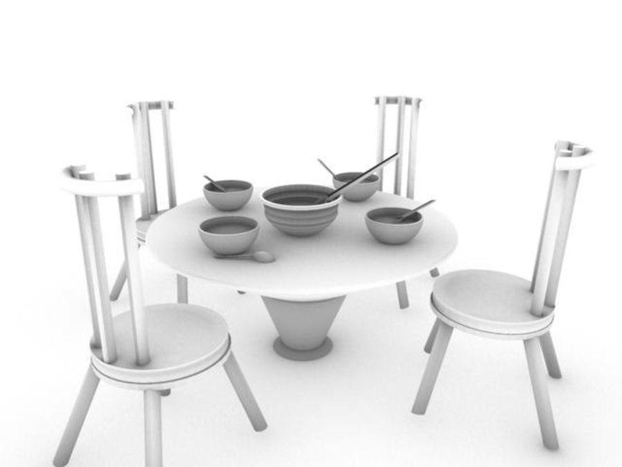 식사 세트 royalty-free 3d model - Preview no. 5