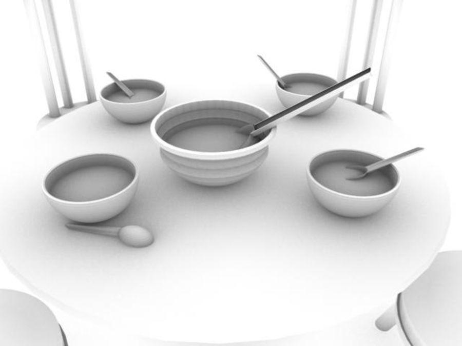 식사 세트 royalty-free 3d model - Preview no. 4