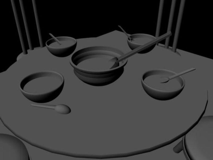 식사 세트 royalty-free 3d model - Preview no. 3