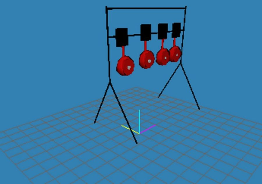 Model -Reset Target royalty-free 3d model - Preview no. 2
