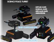 科学警察タレット 3d model