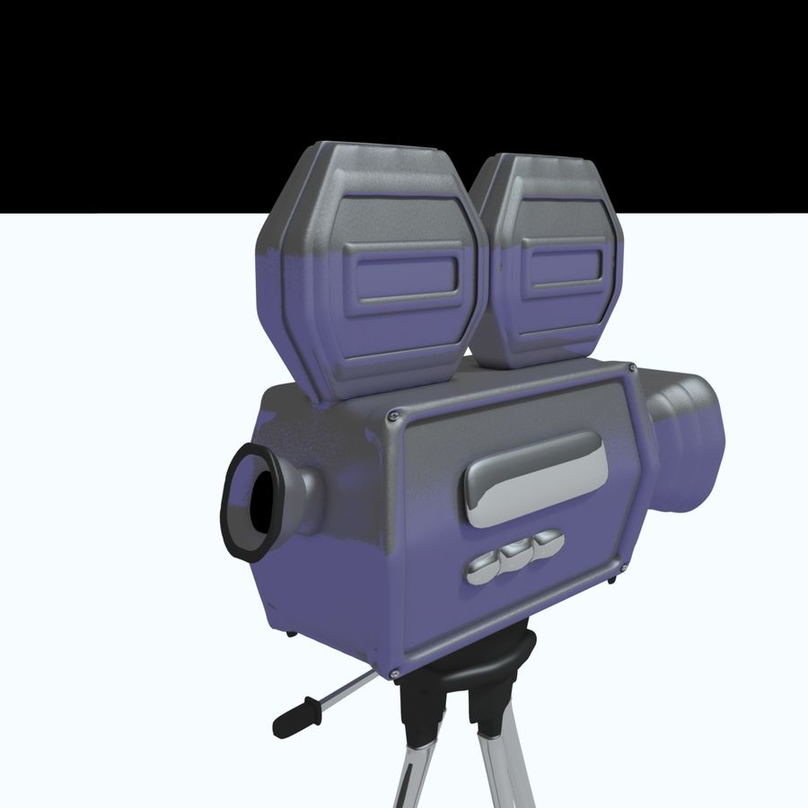 Classic Hollywood Movie Camera royalty-free 3d model - Preview no. 7