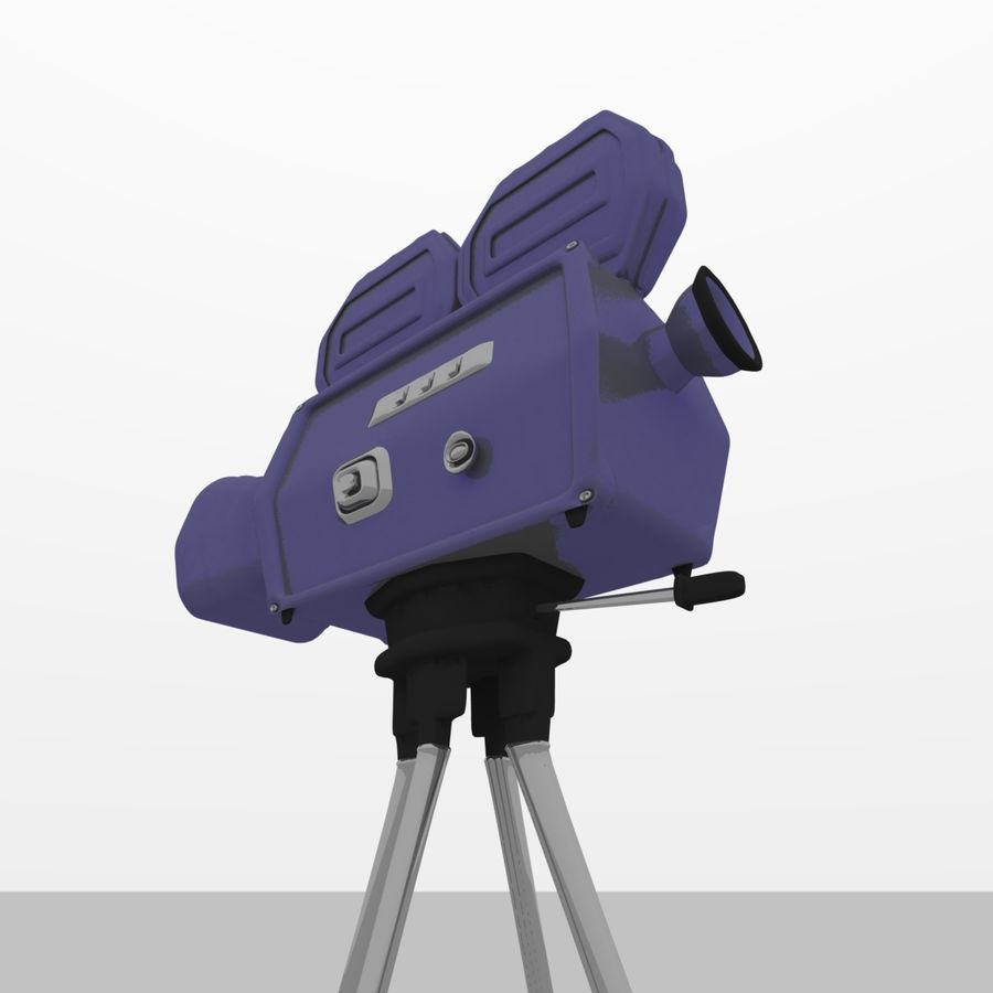Classic Hollywood Movie Camera royalty-free 3d model - Preview no. 3
