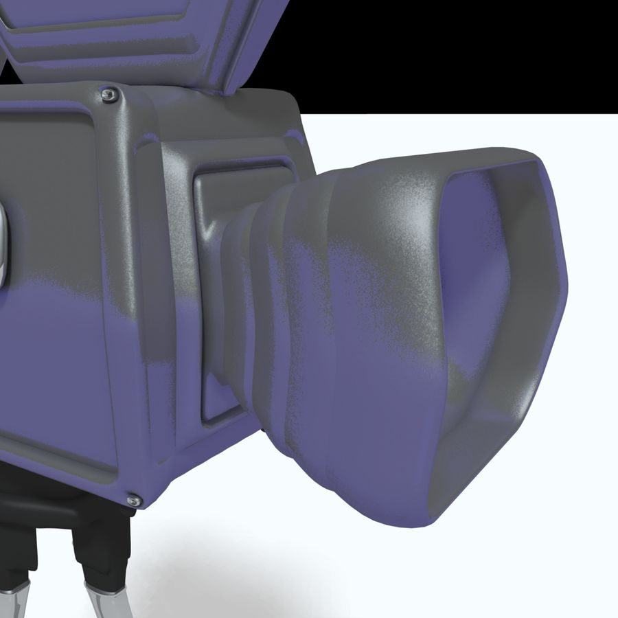 Classic Hollywood Movie Camera royalty-free 3d model - Preview no. 9