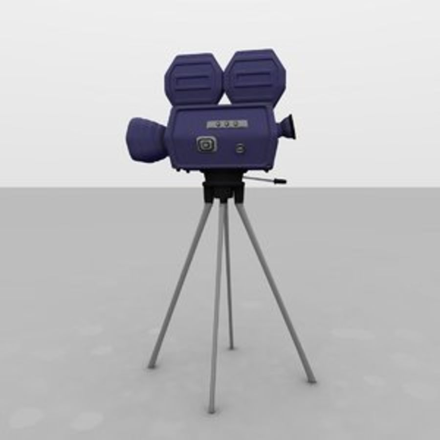 Classic Hollywood Movie Camera royalty-free 3d model - Preview no. 1