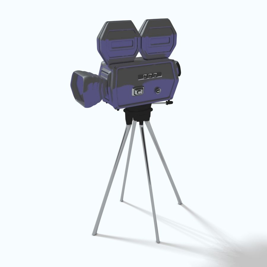 Classic Hollywood Movie Camera royalty-free 3d model - Preview no. 4