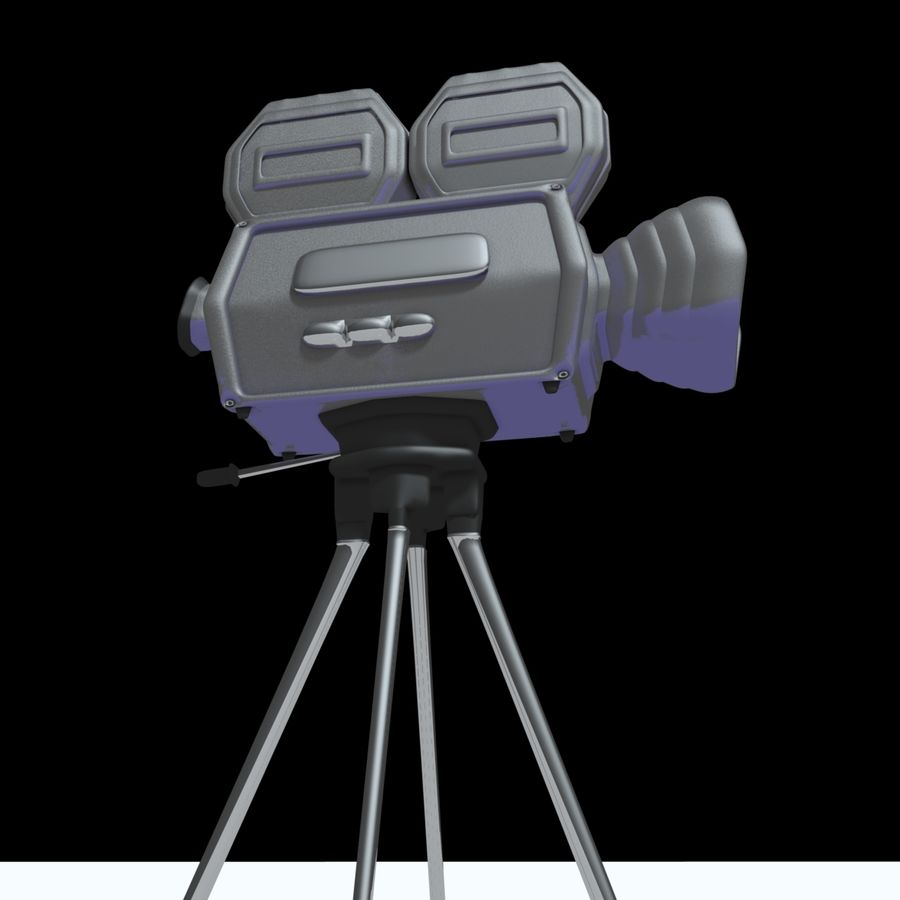 Classic Hollywood Movie Camera royalty-free 3d model - Preview no. 6