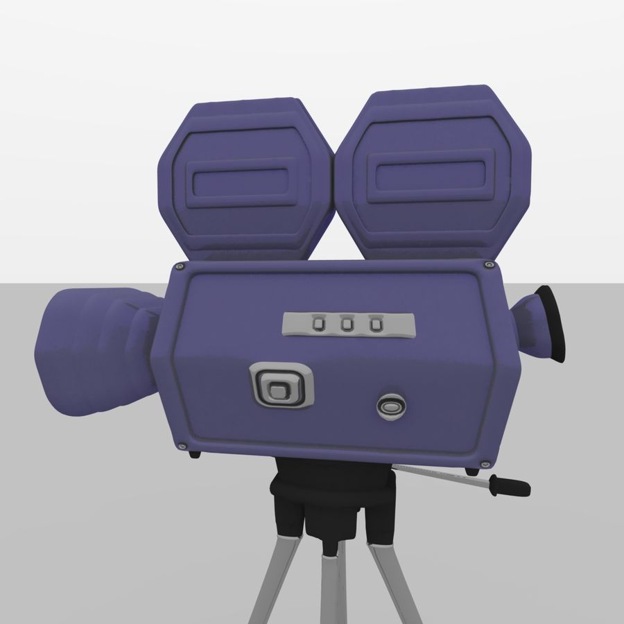 Classic Hollywood Movie Camera royalty-free 3d model - Preview no. 2