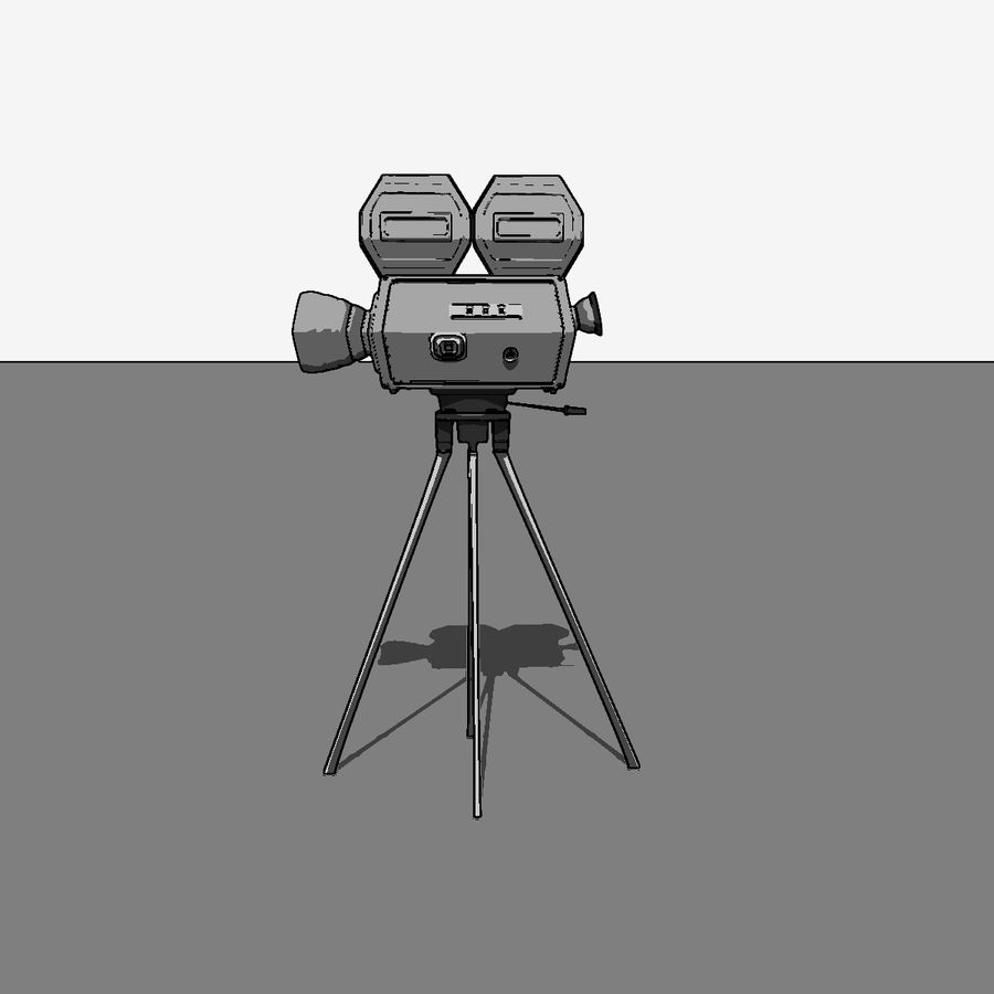 Classic Hollywood Movie Camera royalty-free 3d model - Preview no. 12
