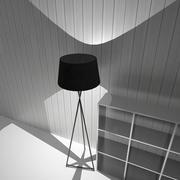Lampe noire 3d model