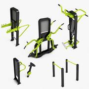 Equipos de gimnasio al aire libre modelo 3d