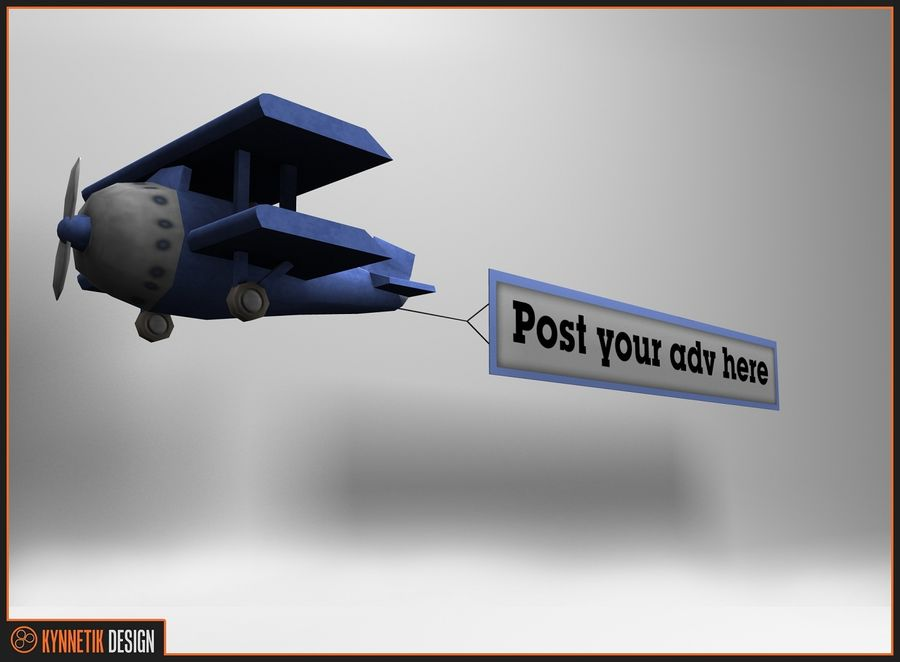 Advertising billboard! royalty-free 3d model - Preview no. 6