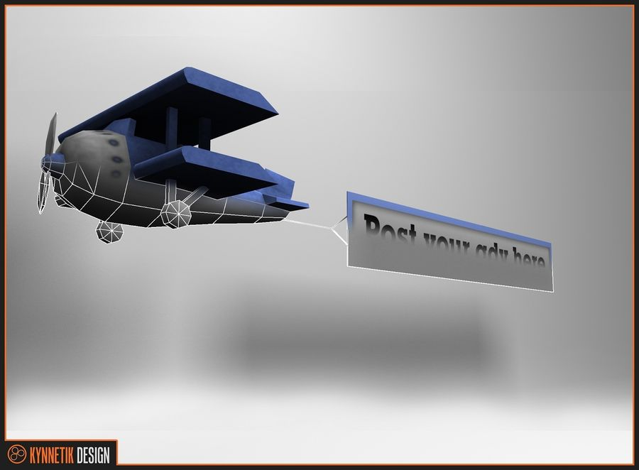 Advertising billboard! royalty-free 3d model - Preview no. 9